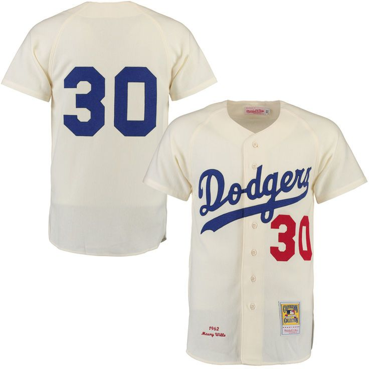Maury Wills 1962 Brooklyn Dodgers Mitchell & Ness Authentic Throwback Jersey - Cream - $299.99