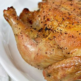 Easy Roast Chicken - Steve said this was the best roast chicken he ever had.  :)
