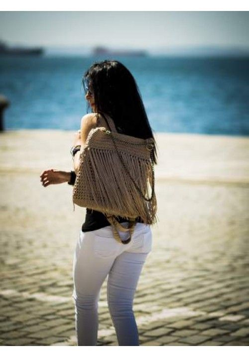 """Golden Rain""  A beautiful Backpack & Shoulder Bag. Perfect for a stylish look!"