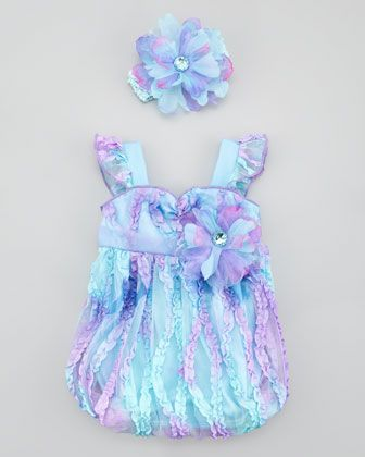 Fairy Tale Princess Bubble Romper & Headband by Cach Cach at Neiman Marcus.