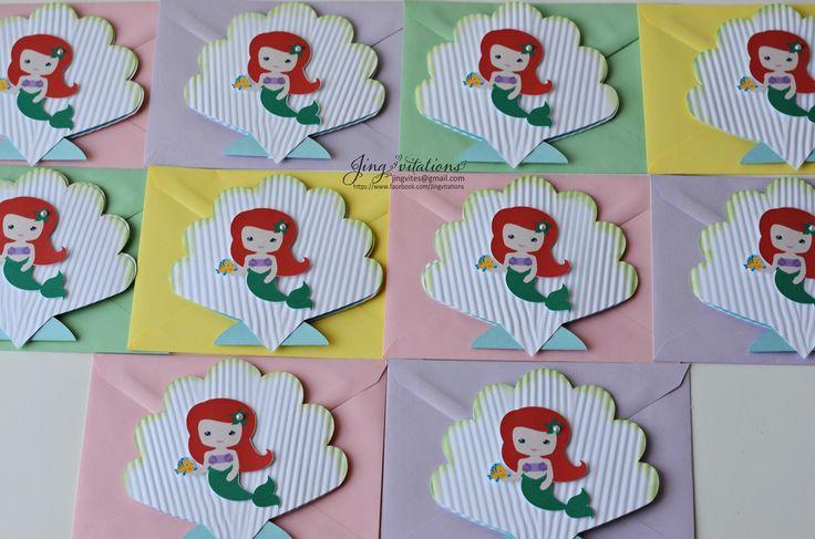 princess mermaid invitations