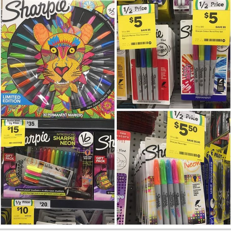 Selected #SharpieMarkers are #onsale for #halfprice or less at #woolworths.  If I didn't already own a thousand I would have bought some. These are the best permanent markers ever! The best value is the big 30pk for $15 originally $35. That equates to just 50c per #Sharpie. I bought this 'limited edition' pack about 18mths ago for the same #bargain price. This is the first time since then that I've seen them on sale again. Available until 14.2.17