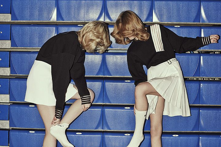 Jon Gorrigan for the Guardian Beth and Nicole both wear sweatshirts #sporty #sportswear #style