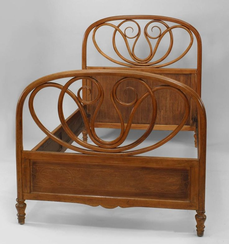 Bentwood Bentwood bed single-size wood