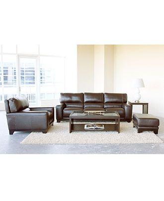 Luke Leather Sofa Living Room Furniture Collection   Furniture   Macyu0027s