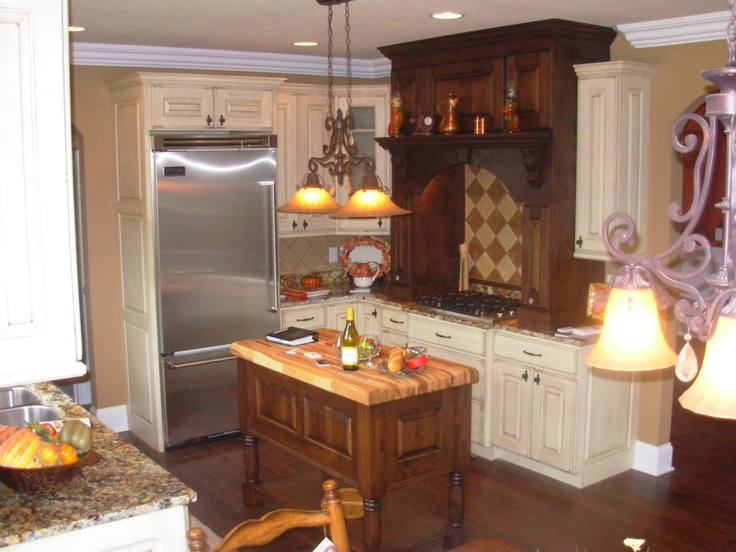 Luxe Homes And Design, Butcher Block Island, Large Kitchen Mantel, French  Country Kitchen