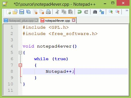Notepad++ is a good text editor for general code creation.