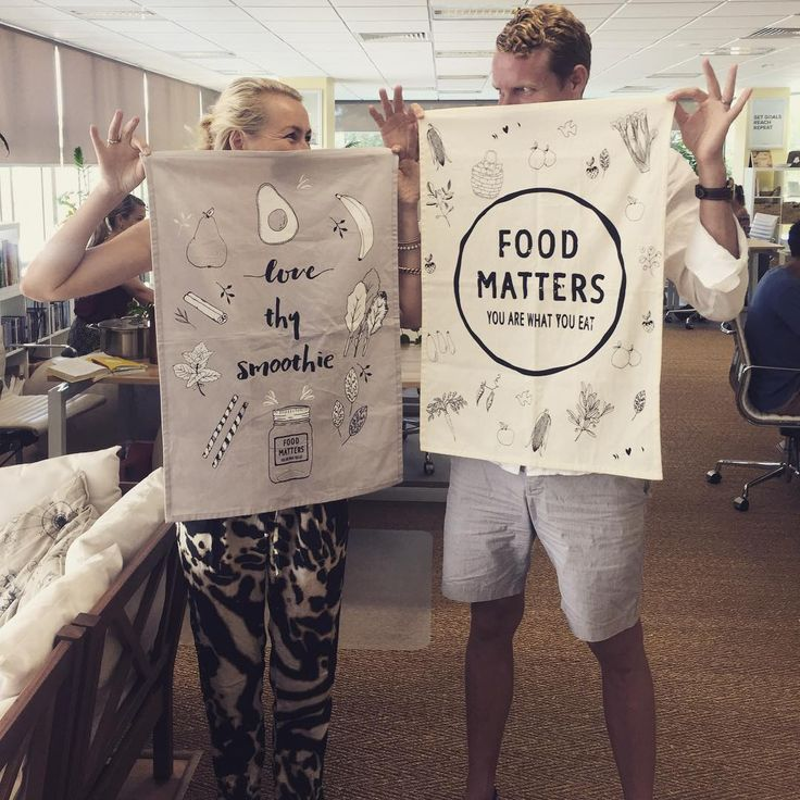 These Two Are Pretty Excited To Share Our New Food Matters Kitchens Towels Arriving Just In Time For The Holiday Season Watch James Live On Facebook
