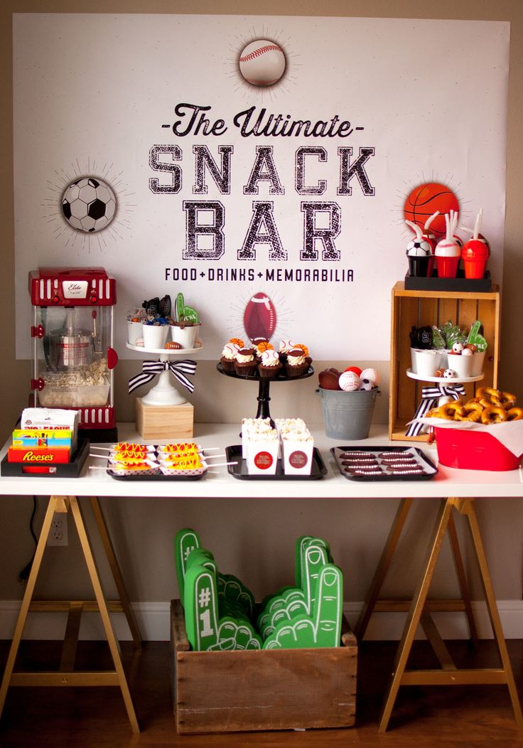 throw the ultimate sports themed birthday party with oriental trading + modern moments designs