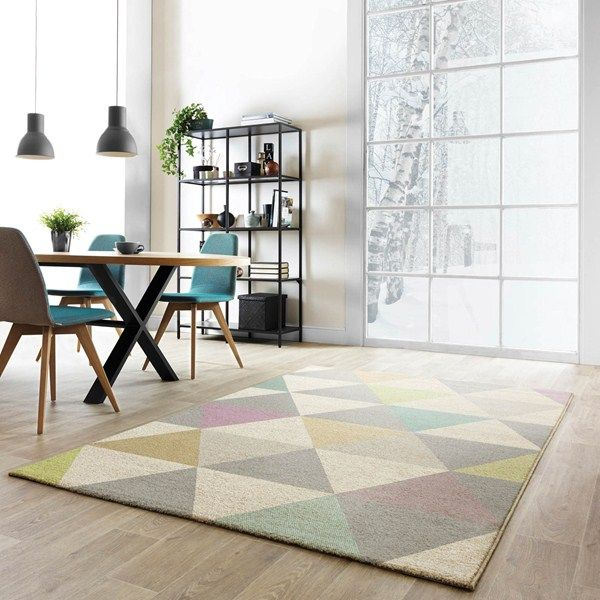 Focus triangles multi-coloured rugs fc01 buy online from the rug seller uk
