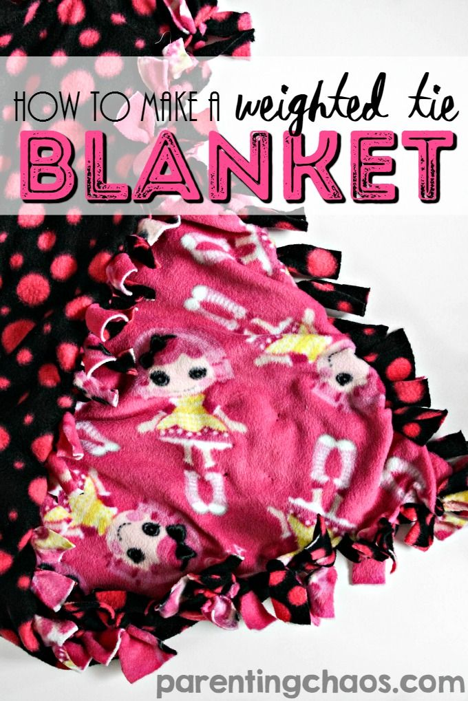 How to Make a Weighted Tie Blanket (That's Machine Washable!)