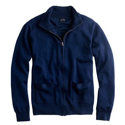 J.Crew - Merino wool zip sweater-jacket