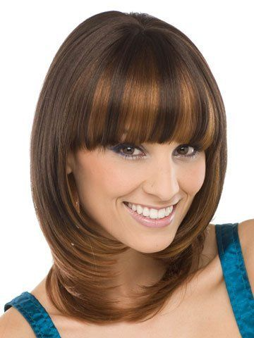 Amora Synthetic Wig by Sepia by Sepia. $31.95. Look fabulous everyday! The Amora by Sepia is a medium length synthetic wig that has a full blunt bang. It also has razored layers in the front that frames the face beautifully.