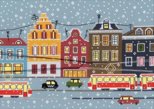 image of Tram Route Cross Stitch Kit