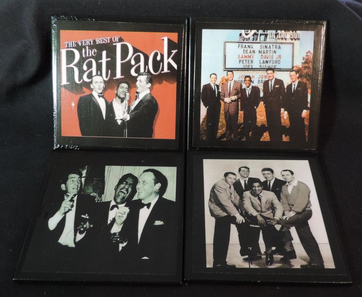 The Rat Pack Drink Coaster Set - Frank Sinatra, Dean Martin , Sammy Davis - Tile Drink Coasters 4 Piece Set by TheCoastalWorkshop on Etsy