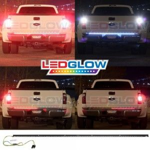 60 Inch Red Tailgate LED Light Bar with White Reverse Lights - New Offer!