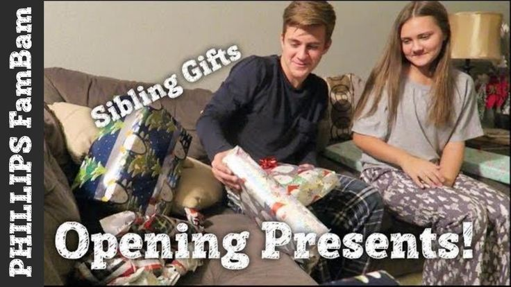 OPENING PRESENTS on CHRISTMAS EVE 2017   SIBLING GIFT EXCHANGE   PHILLIP...