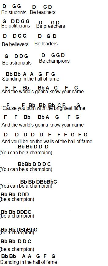 Hall of Fame—The Script • Flute Sheet Music in 2019 ...
