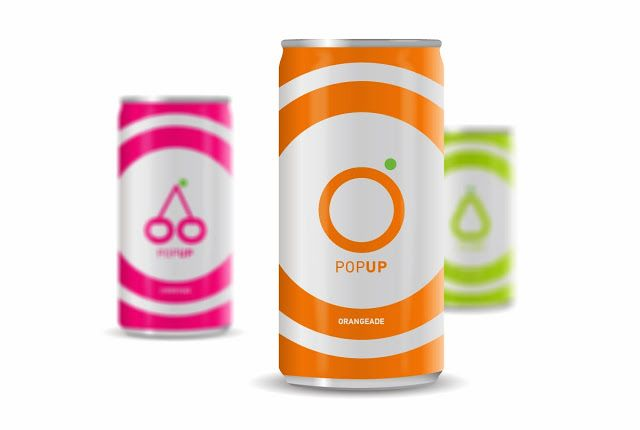 Playful, simple execution  Pop Up Soft Drinks