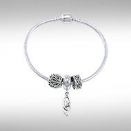 Celtic Knots Sterling Silver Bead Bracelet TBL353