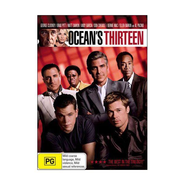 Ocean s Thirteen DVD Brand New Oceans 13 - Clooney, Matt Damon, Brad Pitt