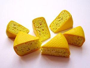 Kaas gemaakt van polymeer klei.  Zout methode.  | Eerlijk Masters - handgemaakt, handgemaakte