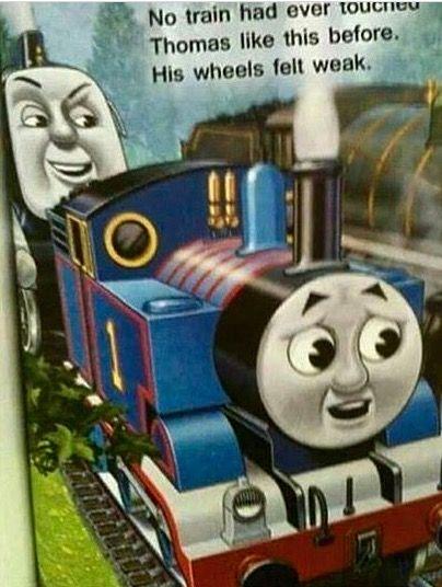 Thomas the tank engine train, kink shame meme