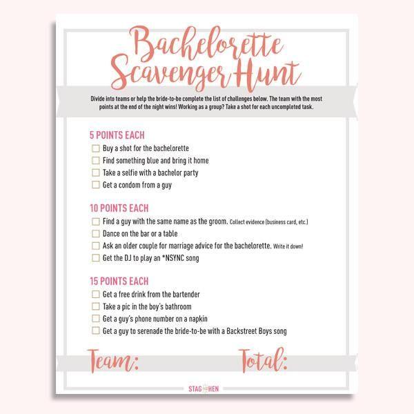Beautiful Bachelorette Photo Scavenger Hunt Ideas Selection   Photo ...