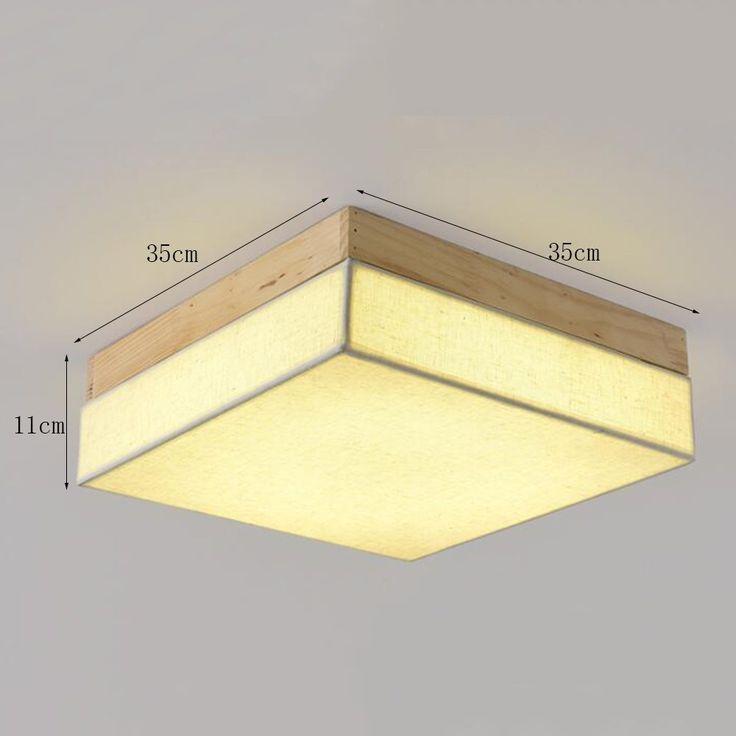 Cute LED Kreatives Holz Deckenleuchte Schlafzimmer Wohnzimmer Studie Deckenleuchte gr e cm Amazon
