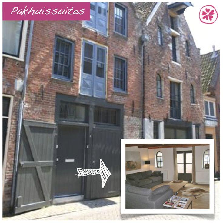 Adresje van de week: Pakhuissuites Groningen. Het Groninger museum en winkels liggen op loopafstand. En dit mooie oude pandje is wel echt geweldig!