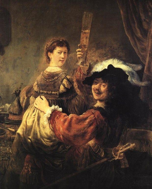 Rembrandt van Rijn, Self-portrait with Saskia, c. 1635, Gemäldegalerie Alte Meister, Dresden