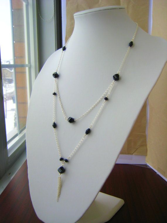Sterling Silver and Austrian Crystal Necklace by BeadBashStudio