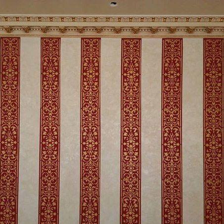 Arabesque Stripe Wall Stencil  See more Border/Stripe Stencils:http://www.cuttingedgestencils.com/wall-stencils-border-stencils.html  #border #stripe #stencils