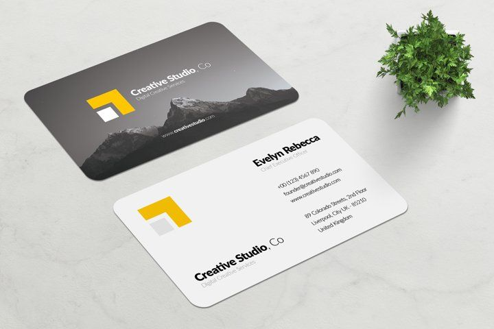 Minimalist Business Card Vol 01 182314 Business Cards Design Bundles In 2021 Minimalist Business Cards Business Card Template Photoshop Business Cards Creative Templates