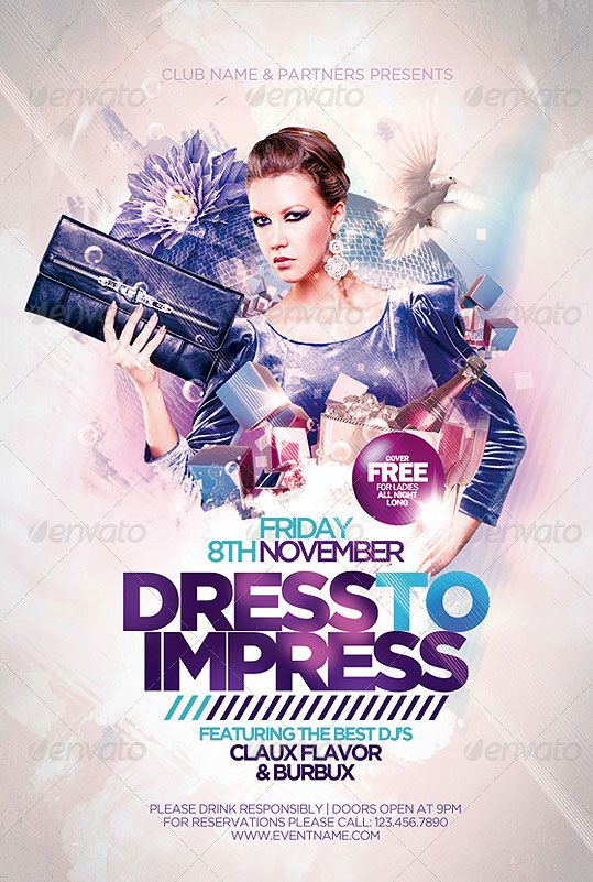 Best Bar  Club Images On   Flyer Design Party Flyer