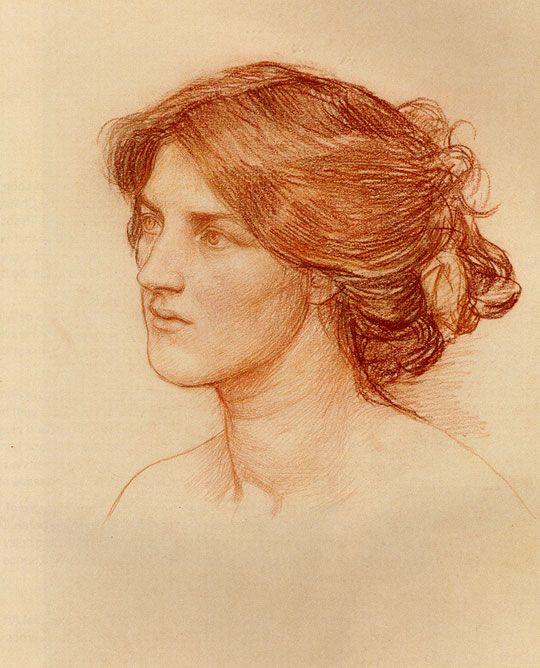 John William Waterhouse: Gather Ye Rosebuds Alors que Ye mai (étude) - 1909