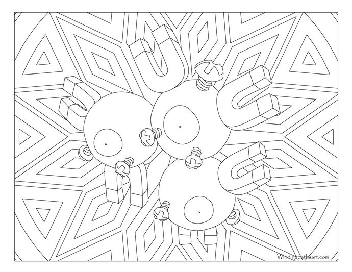 pokemon magneton coloring pages - photo#15