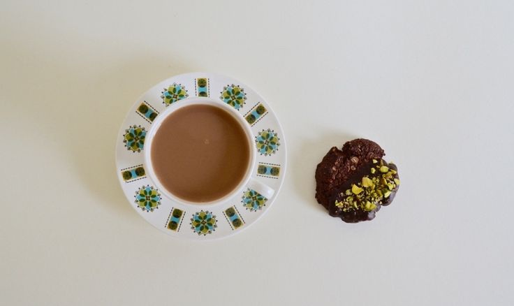 Chocolate, Oat and Pistachio Biscuits