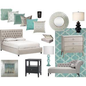 mint grey bedroom