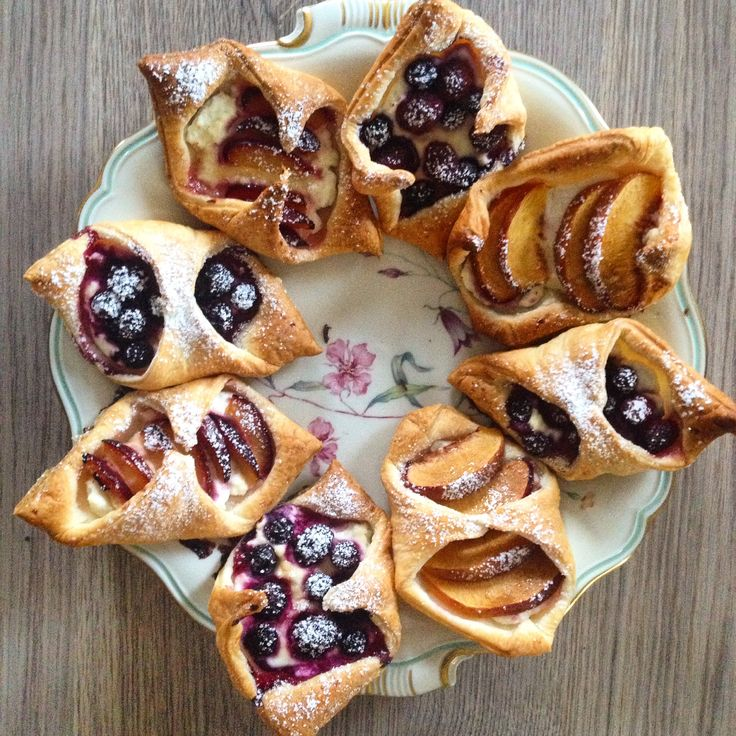 French pastry, riccota, summer fruits