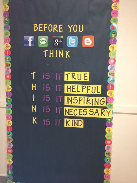 Cyberbullying awareness. Can decorate your classroom door.