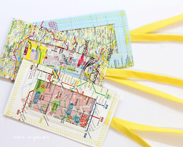 DIY // Kofferanhänger nähen // Landkarten // Stadtpläne // U-Bahn-Pläne // Anhänger // was eigenes // DIY Blog