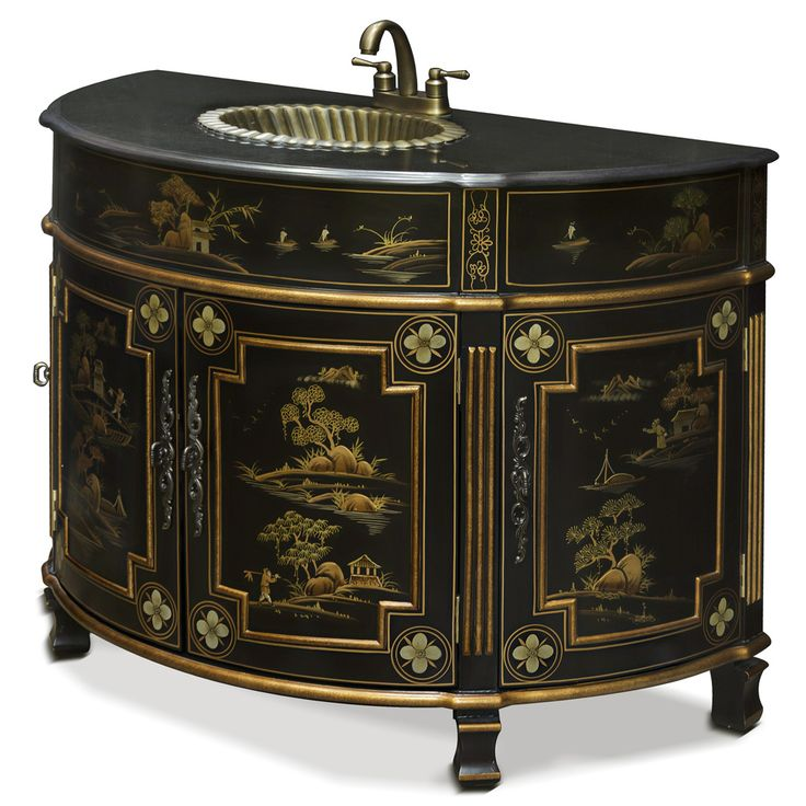 32 best chinese style vanity cabinets images on pinterest for Tansu bathroom vanity