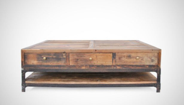 Remington Coffee Table Handsome Hand Distressed Living Room Piece Made From Salvaged Timber