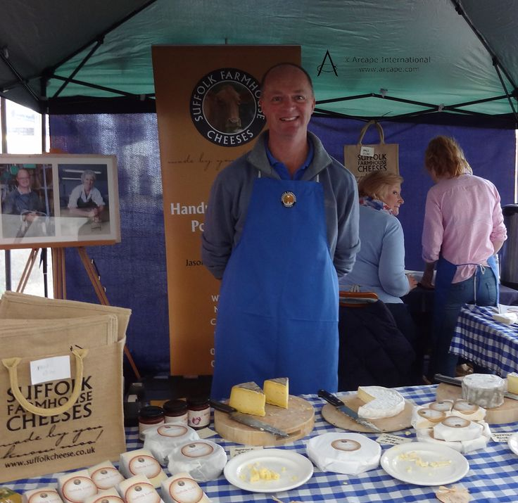 Great cheese made from the milk of their own herd of pedigree Guernseys was available from Suffolk Farmhouse Cheeses.