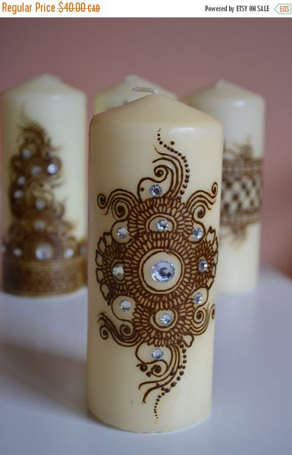 Mehndi For Sale : Holiday sale henna candle mehndi design