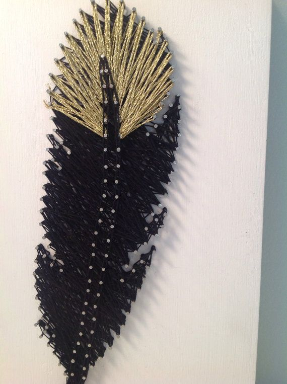Feather String Art by StringTheoryVan on Etsy