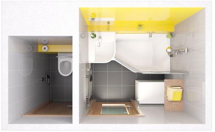 Ravak BeHappy асимметричная акриловая ванна 150x75 см || SEASAN.ru