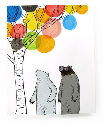 3 Fish Studios - Colorful Tree Bears