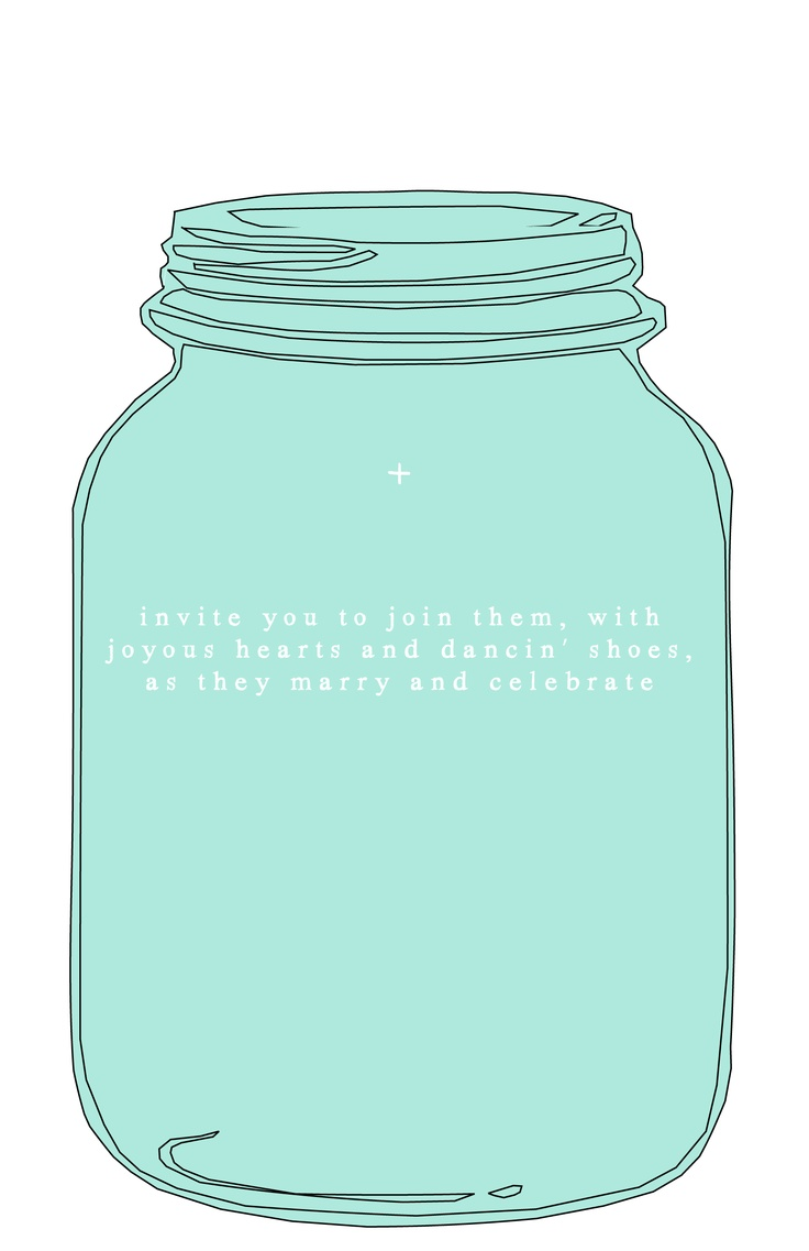 Mason Jar Template for wedding invitations
